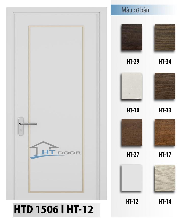 Mã màu trắng HT12 cho cửa nhựa composite HTD 1506