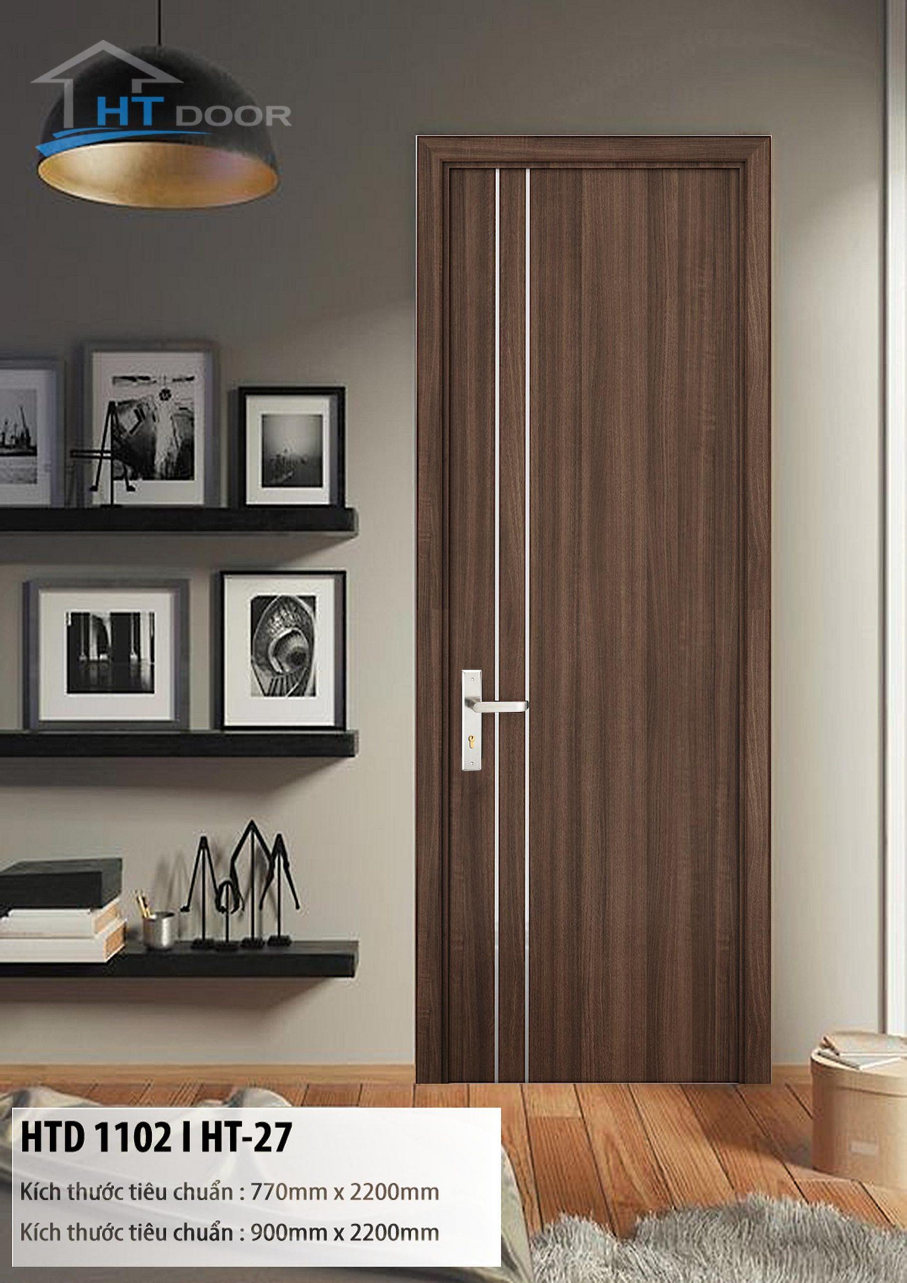 Mẫu cửa gỗ nhựa composite HTdoor HTD 1102