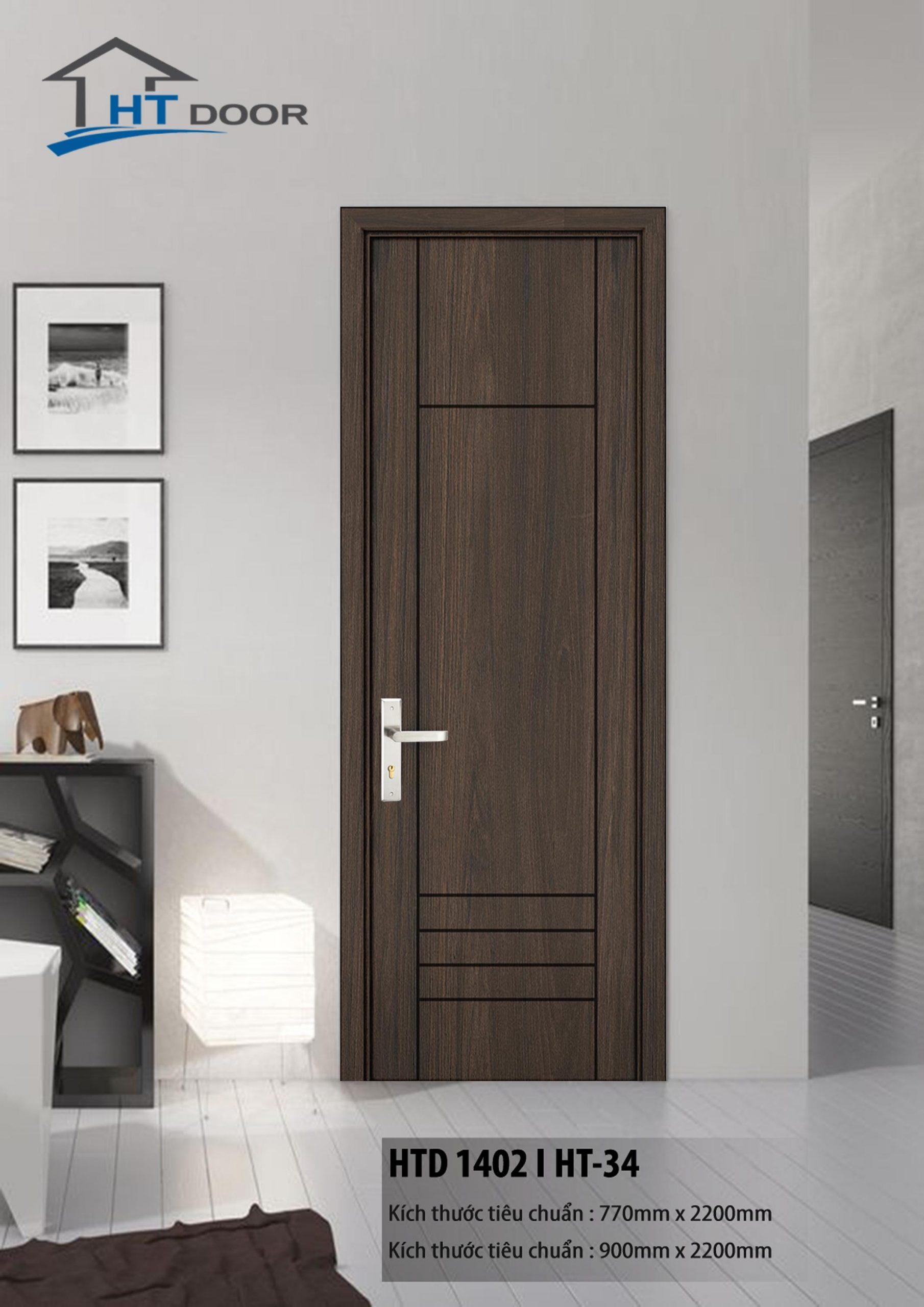 Mẫu cửa nhựa composite HTdoor sang trọng, hiện đại