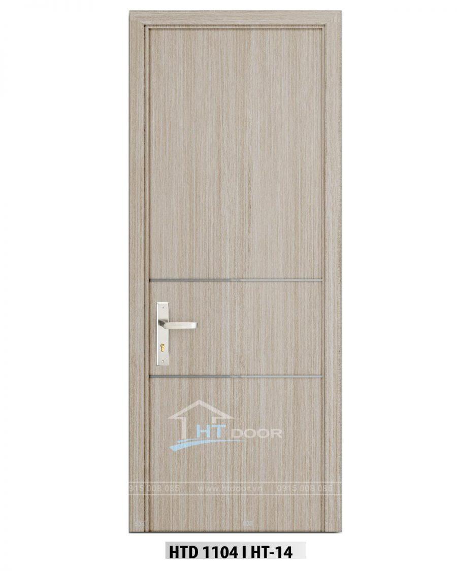 Hình ảnh cửa nhựa composite nẹp nhôm ngang HTD 1104