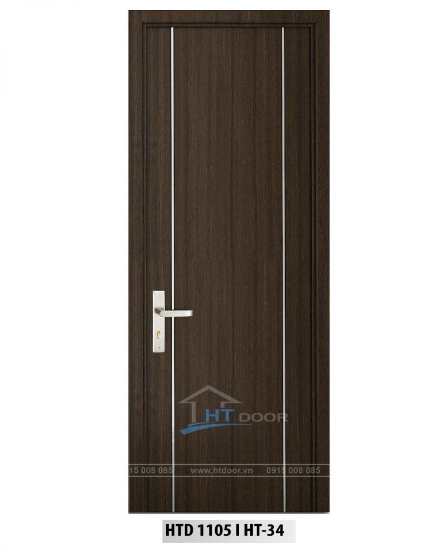 Hình ảnh cửa nhựa composite nẹp nhôm dọc HTD 1105 HT34