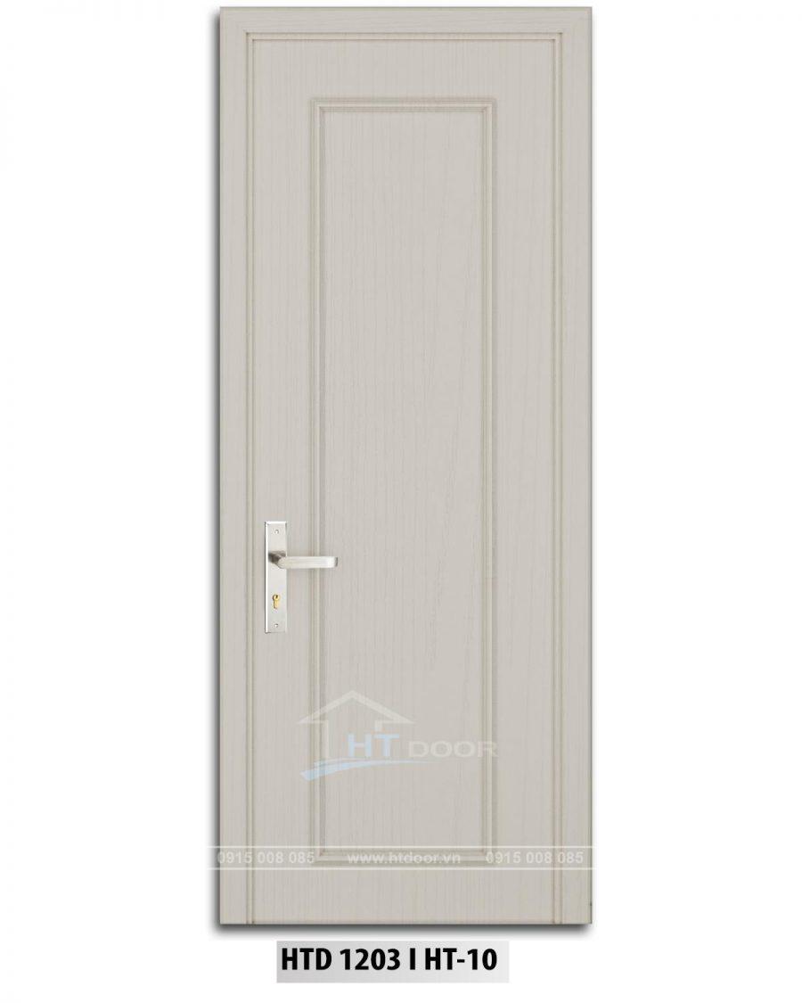 Hình ảnh cửa nhựa composite phào chỉ HTD 1203 màu trắng