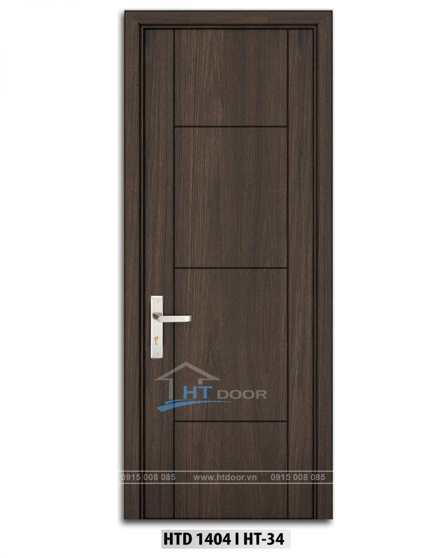 Hình ảnh cửa nhựa kẻ chỉ HTD 1404 HT34 cho cửa thông phòng