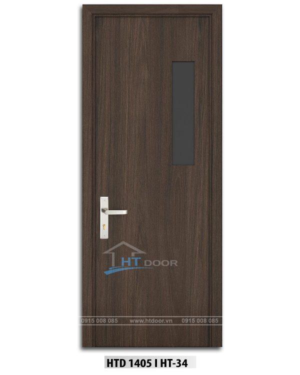 Hình ảnh cửa nhựa composite ô kính HTD 1405 H34