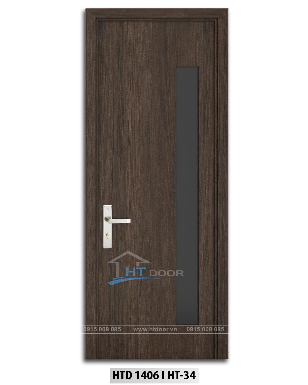 Hình ảnh cửa nhựa composite ô kính HTD 1406 HT34