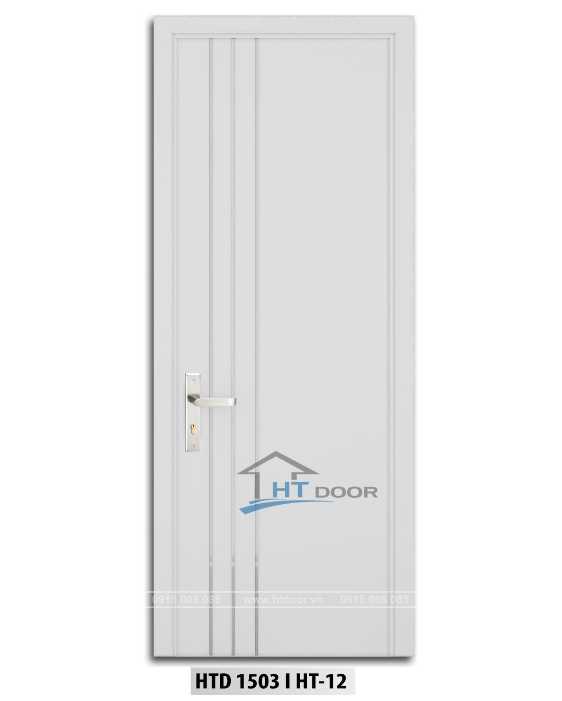 Hình ảnh cửa nhựa sơn men nẹp nhôm HTD 1503 HT12