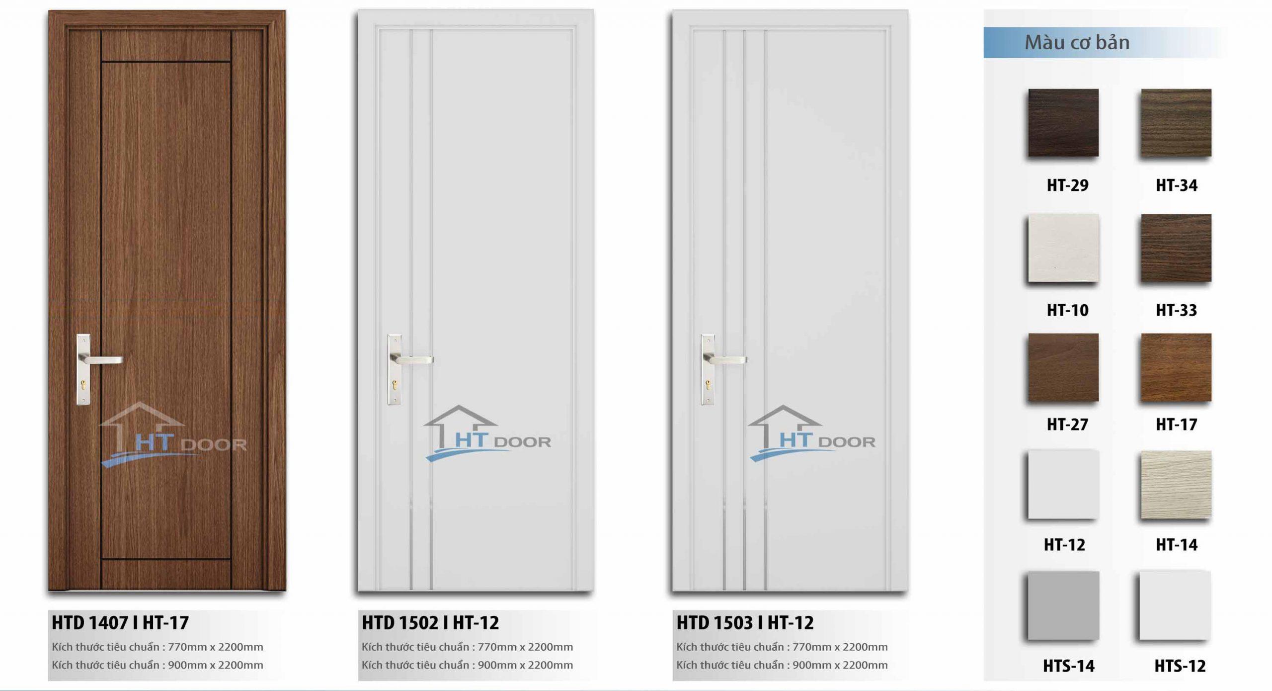 Slide cửa gỗ composite HTdoor 05