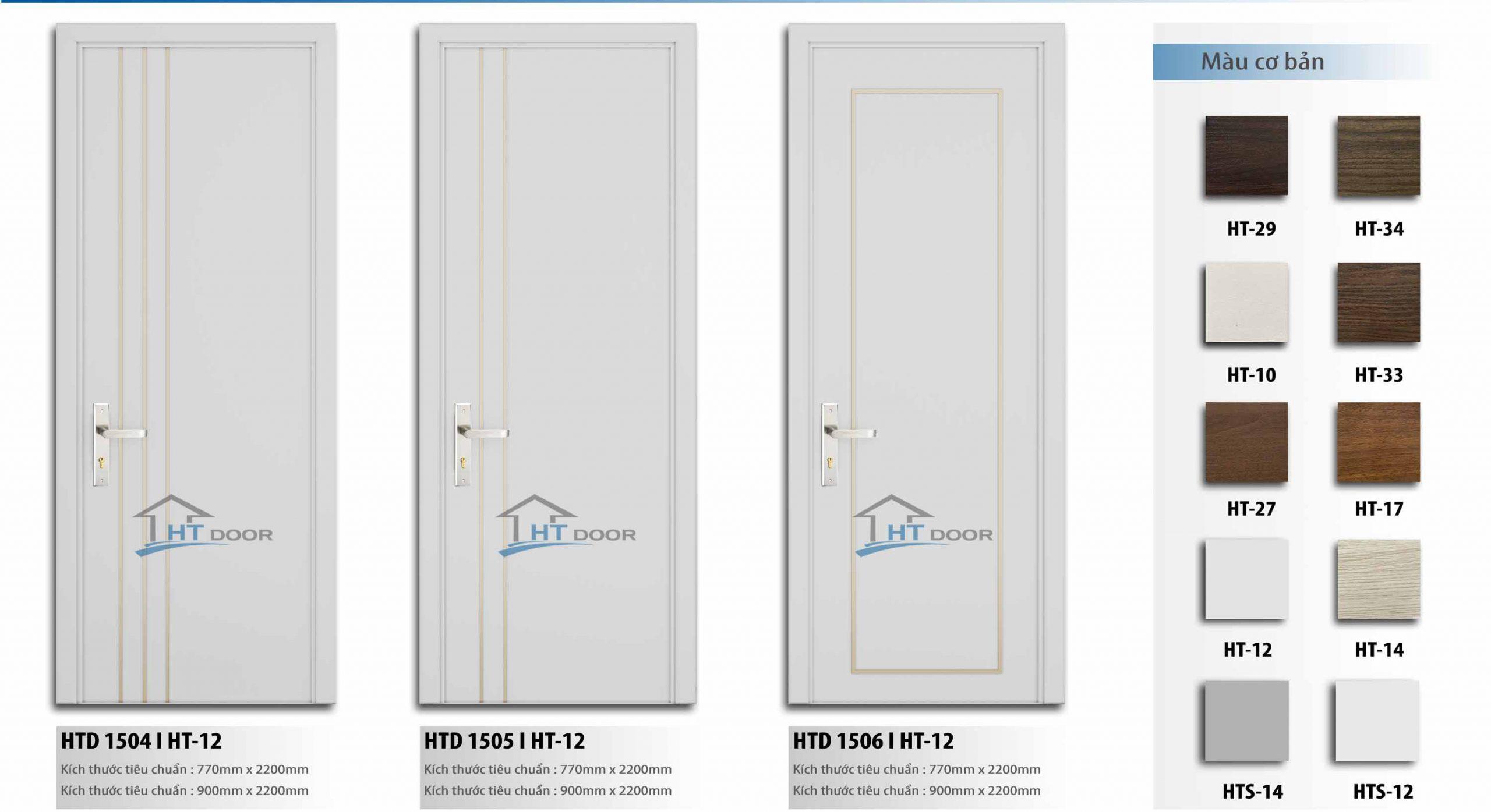 Slide cửa gỗ composite HTdoor 08