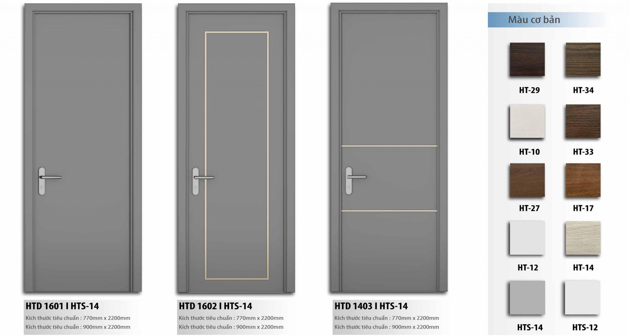 Slide cửa gỗ composite HTdoor 06
