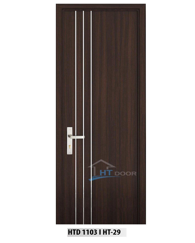 Mẫu cửa gỗ nhựa 3 chỉ nẹp nhôm